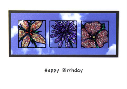 Glittered Flowers Card