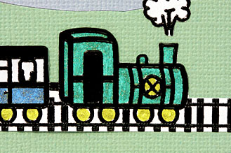 making-train-birthday-card-step1