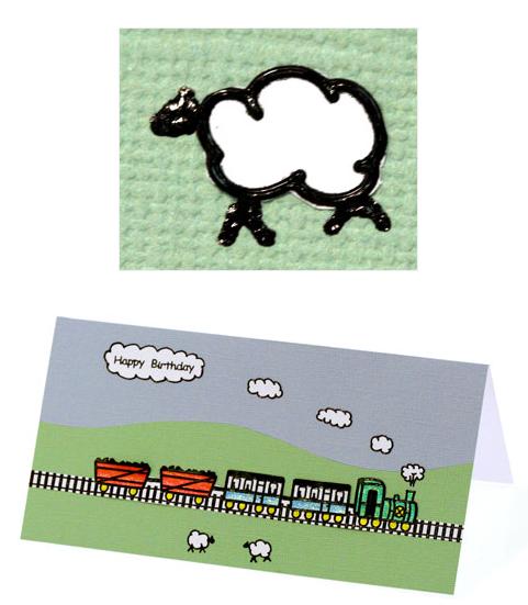 making-train-birthday-card-step4